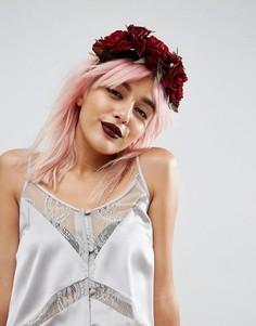 Корона с цветочной отделкой Rock N Rose Halloween Beatrice - Красный
