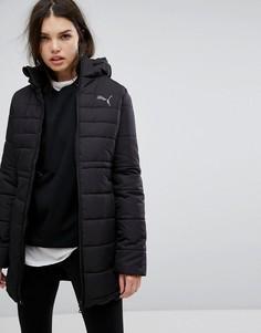 Черная дутая длинная куртка Puma Essentials - Черный