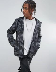 Серая ветровка с камуфляжным принтом Brooklyns Own - Серый
