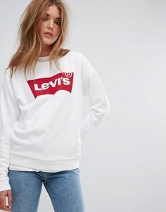 Белый свитшот свободного кроя с логотипом Levis - Белый Levis®