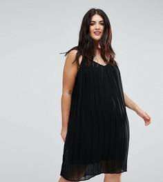 Плиссированное платье Lovedrobe - Черный
