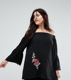 Блузка с цветочным принтом Lovedrobe - Черный