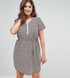 Платье с зигзагообразным принтом и застежкой-молнией Koko - Мульти