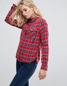 Рубашка в клетку Pepe Jeans Lua - Красный
