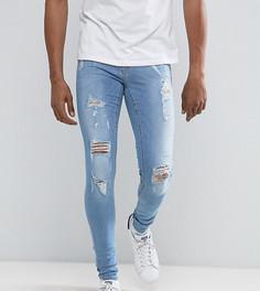 Светлые обтягивающие джинсы с прорехами Blend - Синий