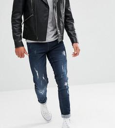 Светлые джинсы слим с контрастными карманами Blend Twister - Синий