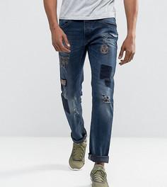 Темные джинсы слим с нашивками Blend Twister - Темно-синий