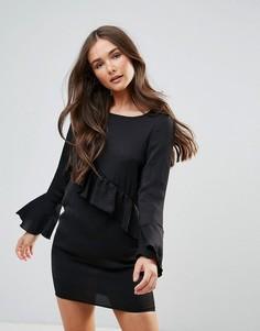 Платье с оборкой QED London - Черный