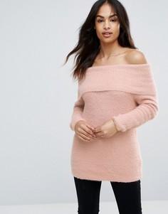 Джемпер контрастной расцветки QED London - Розовый