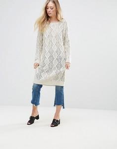 Платье-джемпер крупной вязки QED London - Бежевый