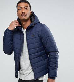 Стеганая куртка с капюшоном Blend - Темно-синий
