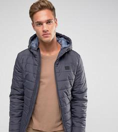 Стеганая куртка с капюшоном Blend - Серый