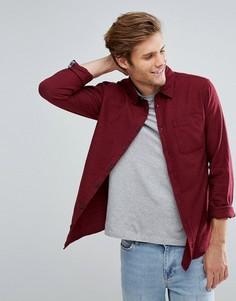 Однотонная рубашка классического кроя Blend - Красный