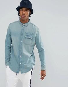 Выбеленная джинсовая рубашка Brooklyns Own - Синий