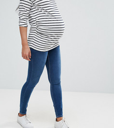 Синие зауженные джинсы с контрастными швами ASOS MATERNITY RIDLEY - Синий