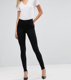 Зауженные джинсы с необработанным краем Vero Moda Tall - Черный