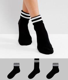 3 пары носков в рубчик New Look - Черный