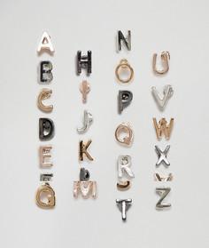 Набор серьг-гвоздиков с алфавитным дизайном New Look - Мульти
