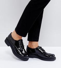 Лакированные броги на шнуровке Monki - Черный