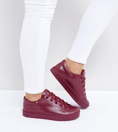 Кроссовки со шнуровкой Monki - Красный