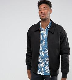 Черная хлопковая куртка Харрингтон ASOS TALL - Черный