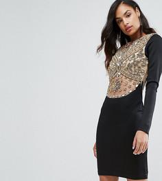 Декорированное платье до колен с длинными рукавами A Star is Born - Черный