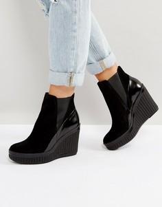 Черные ботильоны на каблуке Calvin Klein Sasha - Черный