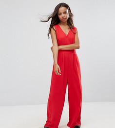 Комбинезон с широкими штанинами Yumi Petite - Красный