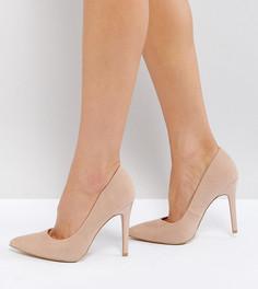 Туфли-лодочки из искусственной замши для широкой стопы New Look - Бежевый