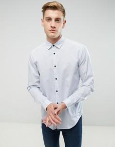 Рубашка слим с цветочным принтом Esprit - Белый