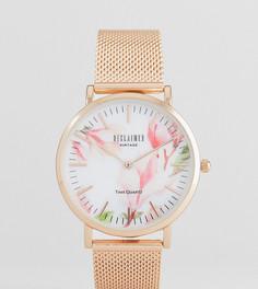 Золотисто-розовые часы Reclaimed Vintage Inspired 36 мм эксклюзивно для ASOS - Золотой