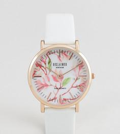 Часы с белым кожаным ремешком Reclaimed Vintage Inspired эксклюзивно для ASOS - 36 мм - Белый