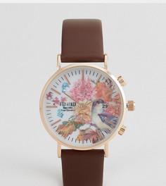 Часы с коричневым кожаным ремешком Reclaimed Vintage Inspired эксклюзивно для ASOS - Коричневый