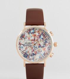 Часы с коричневым кожаным ремешком Reclaimed Vintage Inspired 36 мм эксклюзивно для ASOS - Коричневый