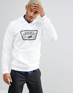 Белый худи с камуфляжным логотипом Vans VA36L4O71 - Белый