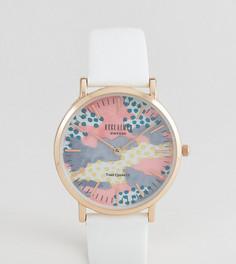 Часы с белым кожаным ремешком Reclaimed Vintage Inspired 36 мм эксклюзивно для ASOS - Белый