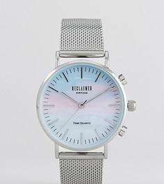 Серебристые часы Reclaimed Vintage Inspired 36 мм эксклюзивно для ASOS - Серебряный