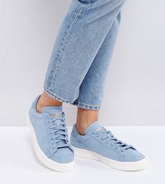 Голубые кроссовки adidas Originals Court Vantage - Синий
