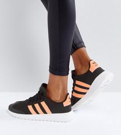 Черно-коралловые кроссовки adidas Originals FLB - Черный