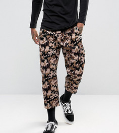 Вельветовые брюки свободного кроя с камуфляжным принтом Reclaimed Vintage Inspired - Коричневый
