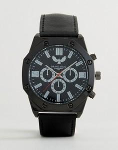 Шестиугольные часы с дополнительными циферблатами Brave Soul - Черный
