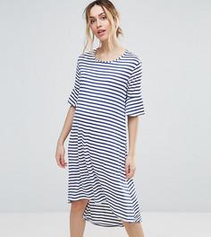 Платье в полоску с асимметричным краем Bluebelle - Мульти