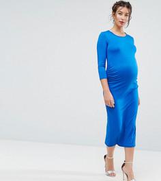 Облегающее платье с рукавами 3/4 Bluebelle Maternity - Синий