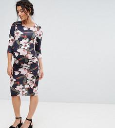 Облегающее платье с цветочным принтом Bluebelle Maternity - Мульти