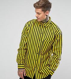 Свободная полосатая рубашка Reclaimed Vintage Inspired - Черный