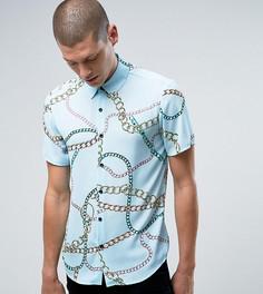 Рубашка классического кроя с принтом цепочки Reclaimed Vintage Inspired - Синий