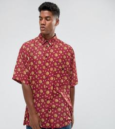 Оверсайз-рубашка с принтом солнца Reclaimed Vintage Inspired - Красный
