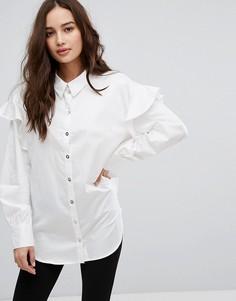 Рубашка с рюшами на плечах Only - Мульти