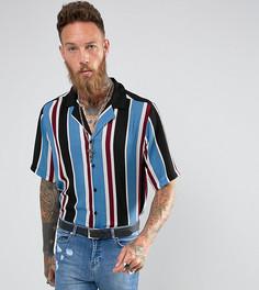 Рубашка классического кроя в полоску с отложным воротником Reclaimed Vintage Inspired - Синий