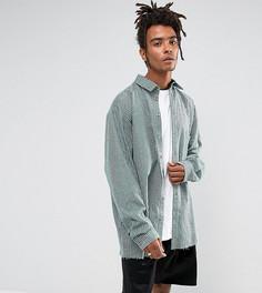 Полосатая рубашка-оверсайз классического кроя Reclaimed Vintage Inspired - Зеленый